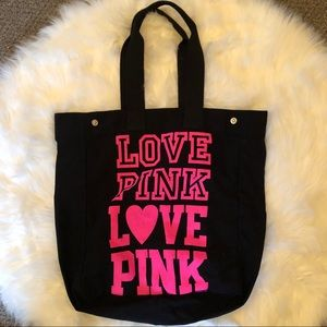 VS Pink Canvas Tote